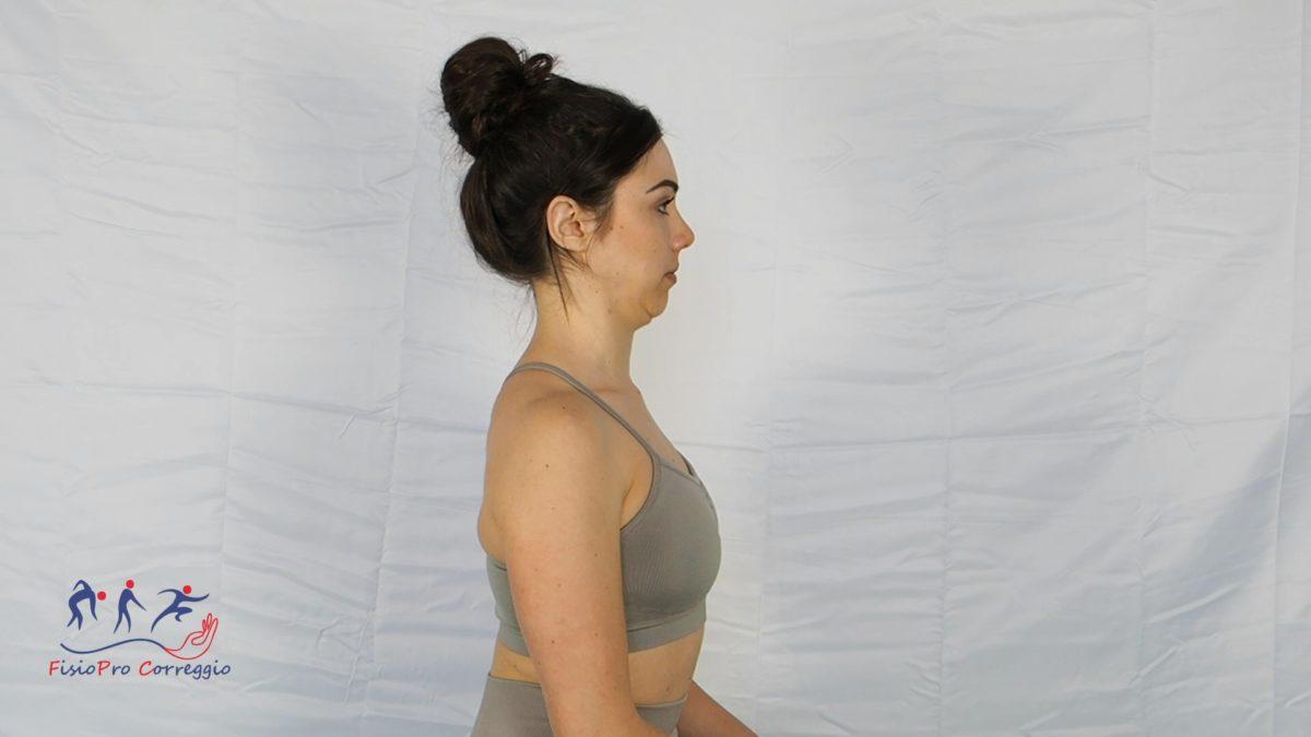 Potenziamento flessori craniocervicali da seduto